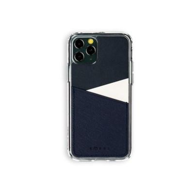 스매스 아이폰11프로 보호 가죽 카드케이스 오원_네이비(사피아노)