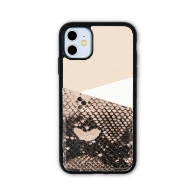스매스 아이폰11 보호 가죽 카드케이스 오원_베이지(파이톤)