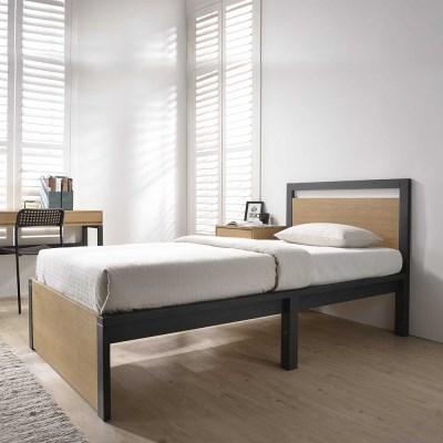 잉글랜더 에단 천연무늬목 침대(JJ 7존 독립매트-Q)_(12560870)
