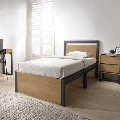 잉글랜더 에단 천연무늬목 침대(JJ 7존 독립매트-SS)_(12560866)