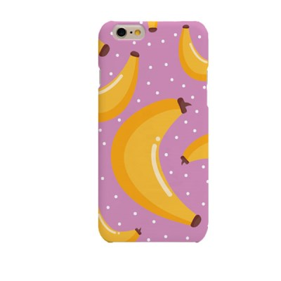 Purple BG Banana Pattern (HE-144B) Hard Case
