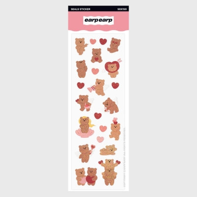Angel bear heart(홀로그램스티커)_(1427137)
