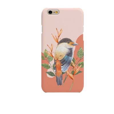 Pink BG Bird Illust (HA-062A) Hard Case