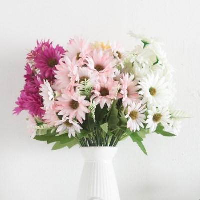 10대거베라부쉬 38cm 조화 꽃 성묘 장식 소품  FAIAFT_(1689874)