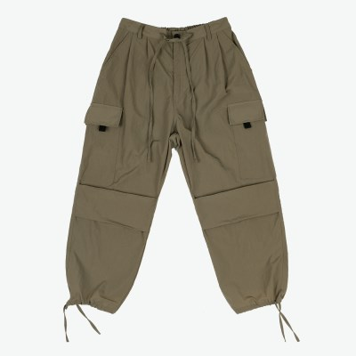 NYLON 2 TUCK POCKET PANTS (KHAKI OLIVE)_(401055707)