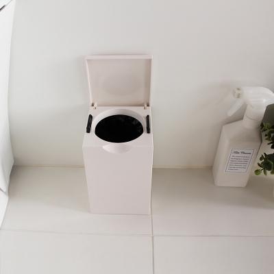 마나 스퀘어 화장실 미니 휴지통 1.5L
