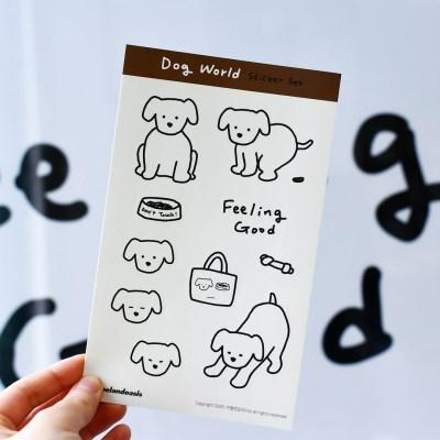 [카멜앤오아시스] Dog World 강아지 스티커 세트