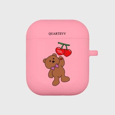 [에어팟젤리]Cherry Bear-pink