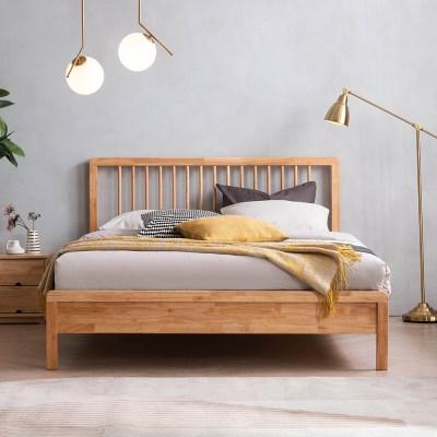 아스티 전체 고무나무 원목 침대(삼중9존 케미컬65T필로우탑독립-Q)