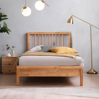 아스티 전체 고무나무 원목 침대(DH 본넬서포트매트-SS)
