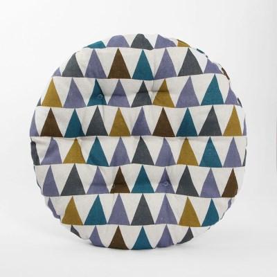 쿠지 삼각 원형방석/ 컬러 쿠션방석