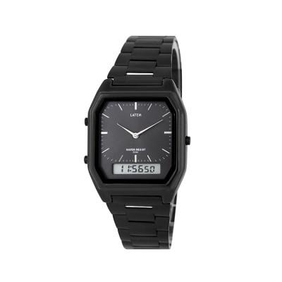 빈티지 뉴트로 메탈 디지털 시계_블랙(AG2G0402MABB)