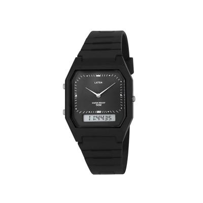 빈티지 뉴트로 러버밴드 디지털 시계_블랙(AG2G0305DABB)