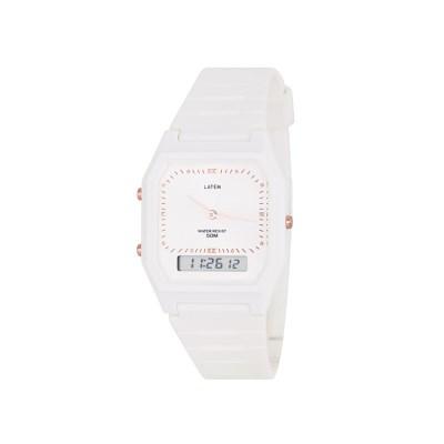 빈티지 뉴트로 러버밴드 디지털 시계_화이트컬러(AG2G0305DAWW)