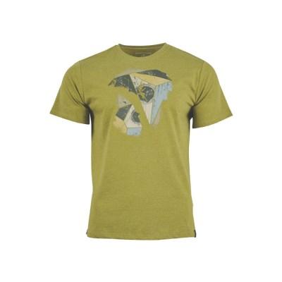 [유나이티드바이블루] Geo 트래버스 반팔 티셔츠 남성용 그린