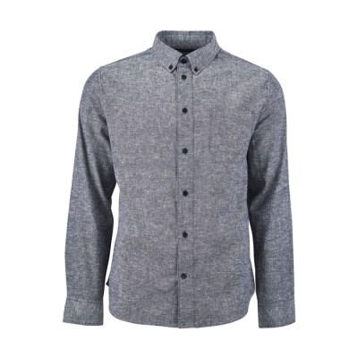 [유나이티드바이블루] 맨스 버튼 다운 셔츠 남성용 미드나잇