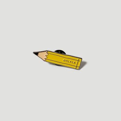 Pencil metal badge