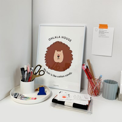 Curly lion poster