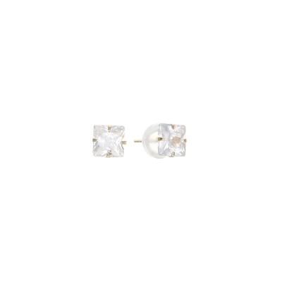 로이드 기본 사각 큐빅 14K Gold 귀걸이 E7PF1S14