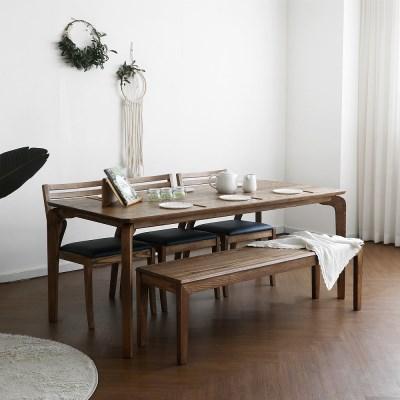 [크랜브라운] 6인용식탁/테이블 세트_(1464126)