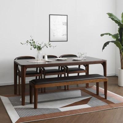 [루아르브라운] 6인용식탁/테이블 세트_(1464125)