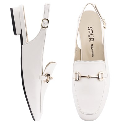SPUR[스퍼] 슬링백  PS7005 Simple chain slingback 화이트