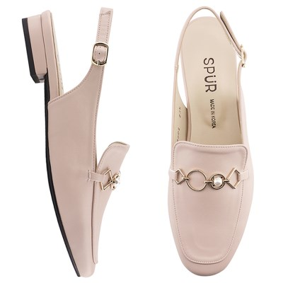 SPUR[스퍼] 슬링백  PS7002 Jewel chain slingback 핑크