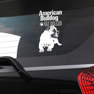 자동차유리용 투명필름 강아지 캐릭터 아메리칸 불독