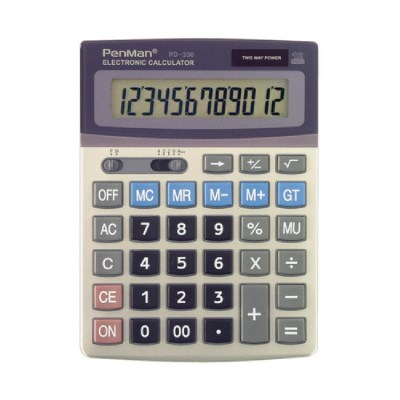 펜맨 계산기 PD-336 쌀집 계산기 회계용 사무용