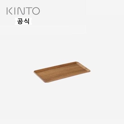 킨토 플레이스 매트 원목쟁반 220×120mm - Teak(티크)_(1471734)