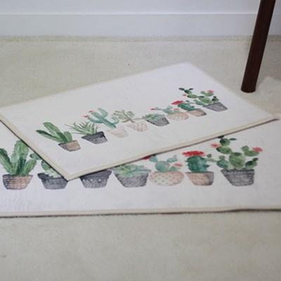 선인장 화분 발매트 주방매트 (2type)_(1867142)