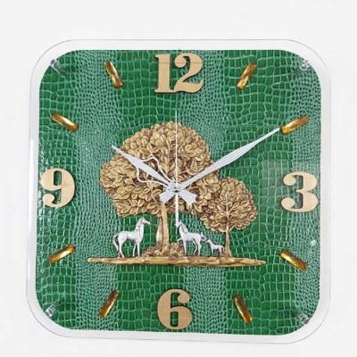 예쁜 엔틱 인테리어 황금나무 그린 벽시계 CH1546486
