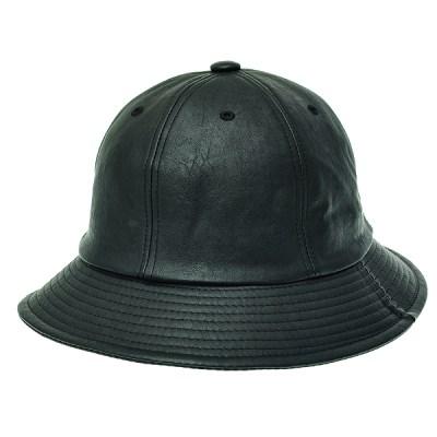 [플릭앤플록]IJU04.인조가죽 6각 벙거지 모자 버킷햇