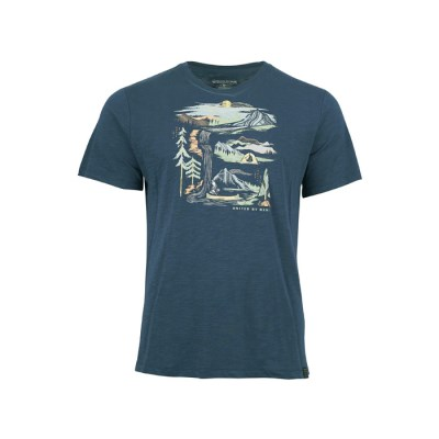 [유나이티드바이블루] 리버밴드 반팔 티셔츠 남성용 네이비