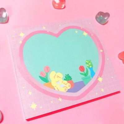 Heart Window 메모패드