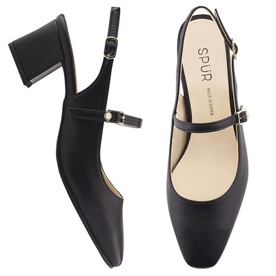 SPUR[스퍼] 슬링백  PS9018 Maryjanes sling back 블랙
