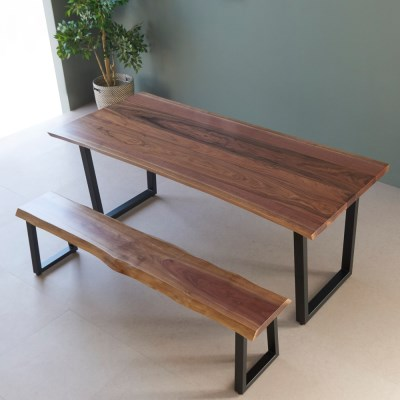 [스코나]에스토 북미산 월넛 우드슬랩 테이블 1800(벤치_(602769043)