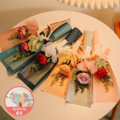 [LOVE픽 증정]벨라 한송이 왕장미 유칼리 로즈 꽃다발_(100880551)