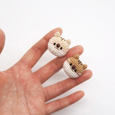 다람쥐 손뜨개 브로치 뱃지