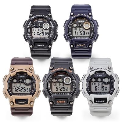 카시오 남성 디지털 전자 군인 손목 시계 W-735H 진동알람