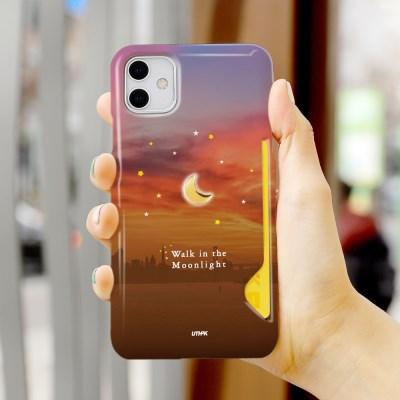 24K 금&크롬 달빛별빛 카드스냅 3D 유광 하드케이스