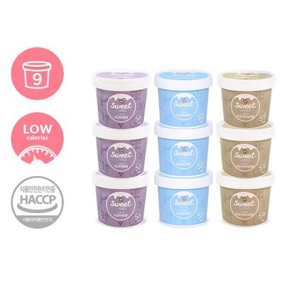 칼로리 걱정없는 달콤아이스크림 스윗랜드 9개 (리코타+미숫+바닐라)