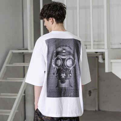 매스노운 바이오로지컬 가스마스크 반팔 티셔츠 MSZTS002-WT