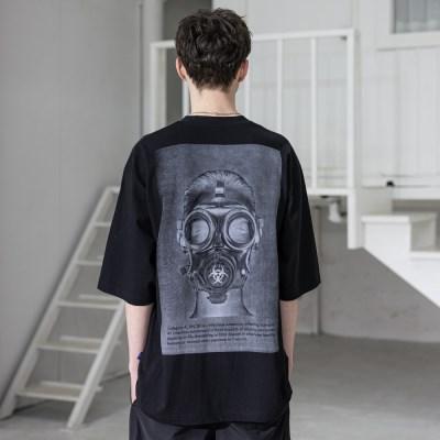 매스노운 바이오로지컬 오버사이즈 반팔 티셔츠 MSZTS002-BK