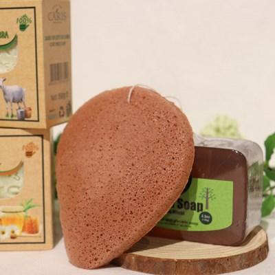 천연 곤약 클렌징 세안 스펀지 클렌징퍼프 아기목욕 식물성