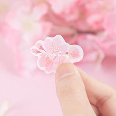 핑크 블로썸 플레이크 스티커(2종)