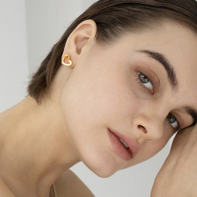 unique heart earring
