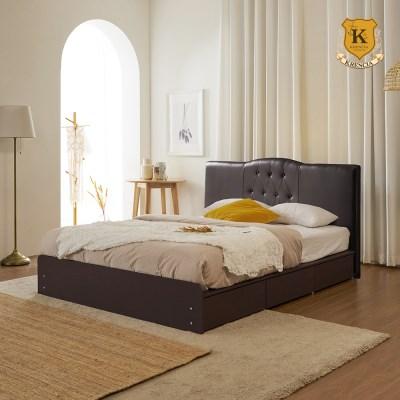 [리퍼브] K808 리노 서랍형 퀸 침대 Q (매트제외)-착불
