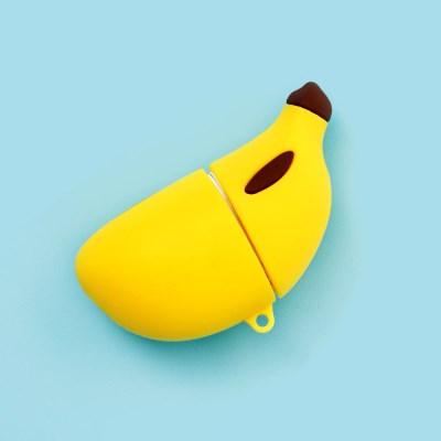 바나나 실리콘 에어팟 케이스_(2395814)