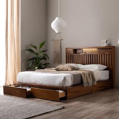 잉글랜더 오르 전체 로즈우드 LED 수납형 침대(삼중직 9_(12666197)